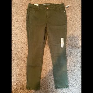 Old Navy (mid rise) Rock Star jeans (green) - new!
